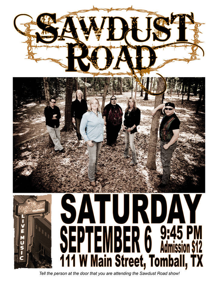 Sawdust Road Tour Dates