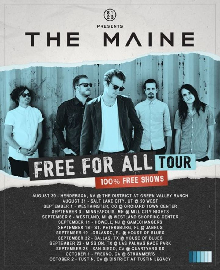 The Maine Tour Dates