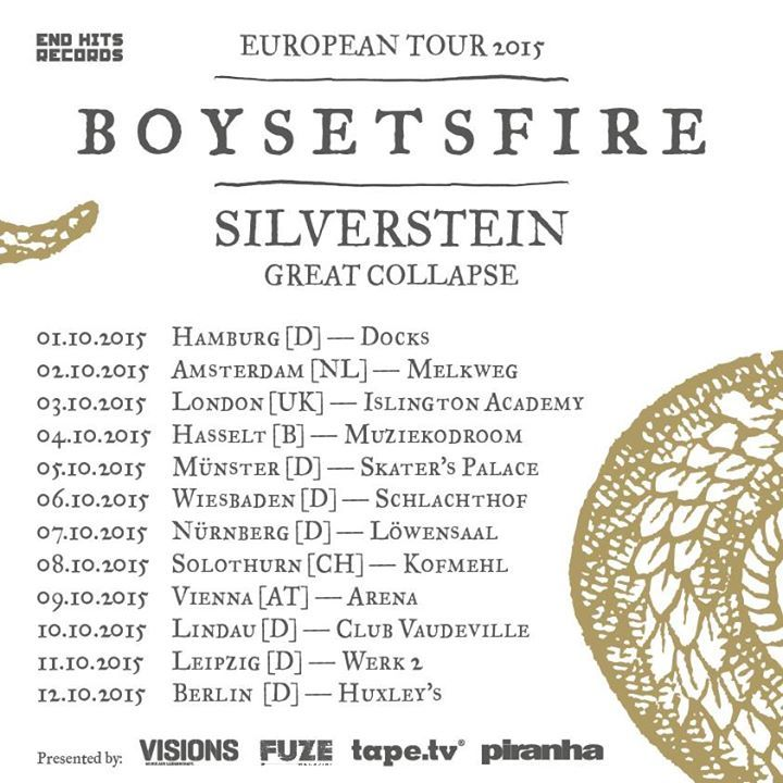 boysetsfire @ Werk 2 - Leipzig, Germany