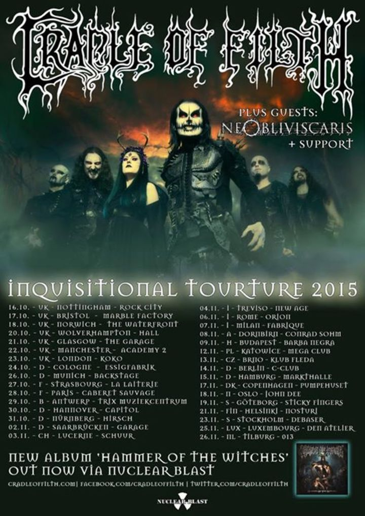 Cradle of Filth @ LKA Longhorn - Stuttgart, Germany