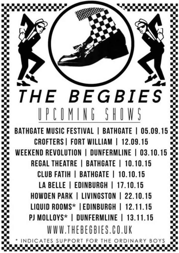 the begbies Tour Dates