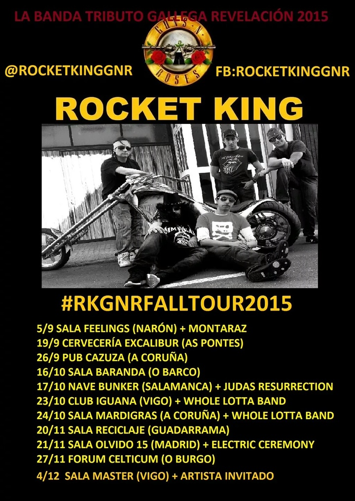 Rocket King - Tributo Guns&Roses Tour Dates