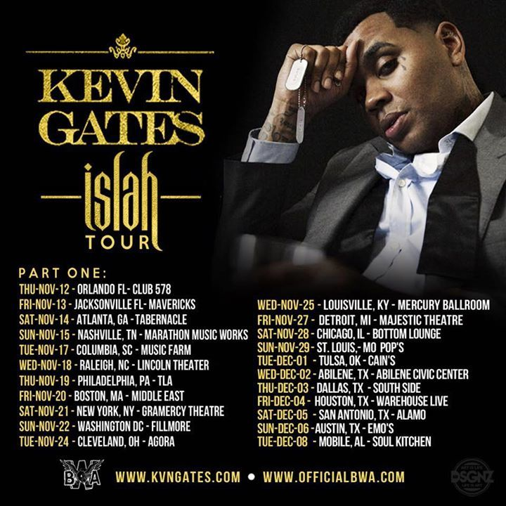 Kevin Gates Tour Dates