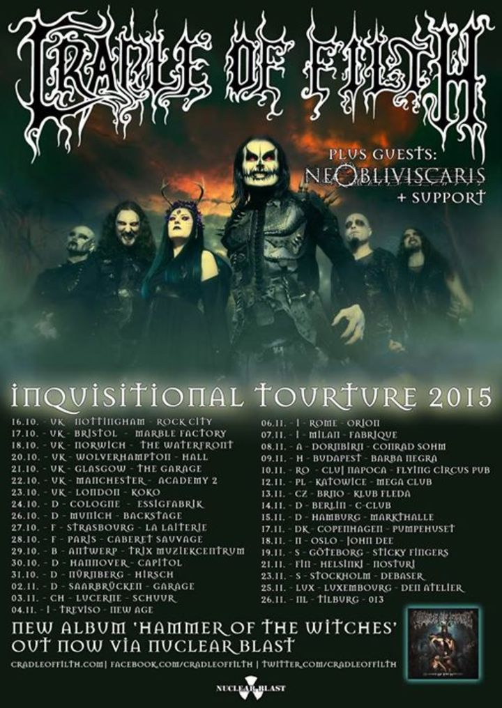 Cradle of Filth Tour Dates