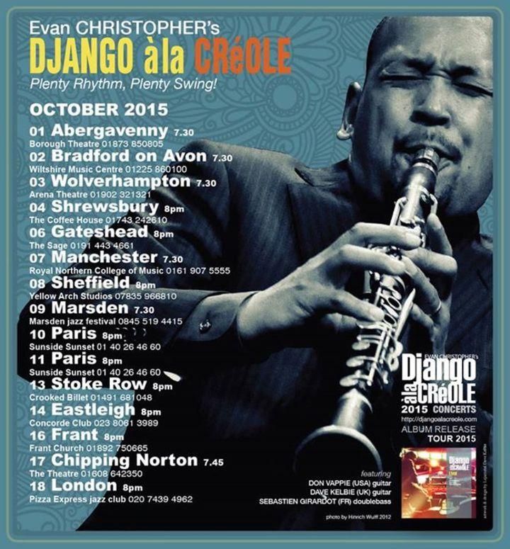 DJANGO A LA CREOLE Tour Dates