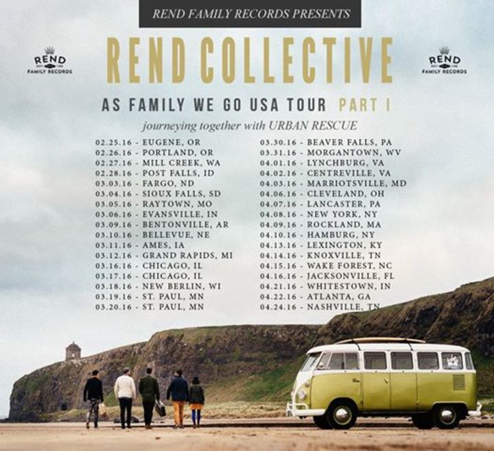 Rend Collective Experiment @ O2 ABC Glasgow - Glasgow, United Kingdom