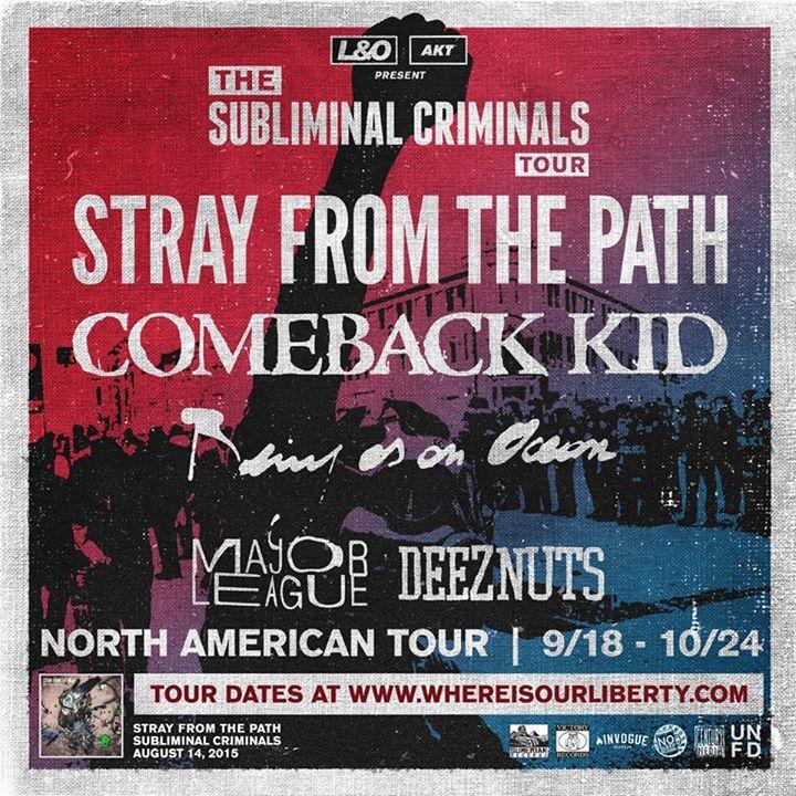 Comeback Kid @ Sound Control  - Manchester, United Kingdom