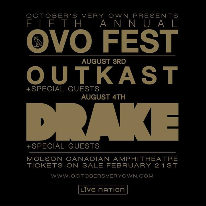 OVO Fest Tour Dates