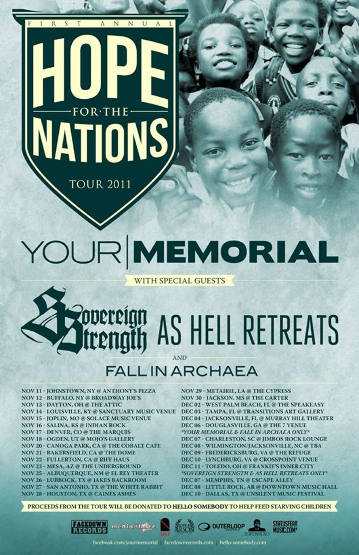 Hope For The Nations Tour Tour Dates