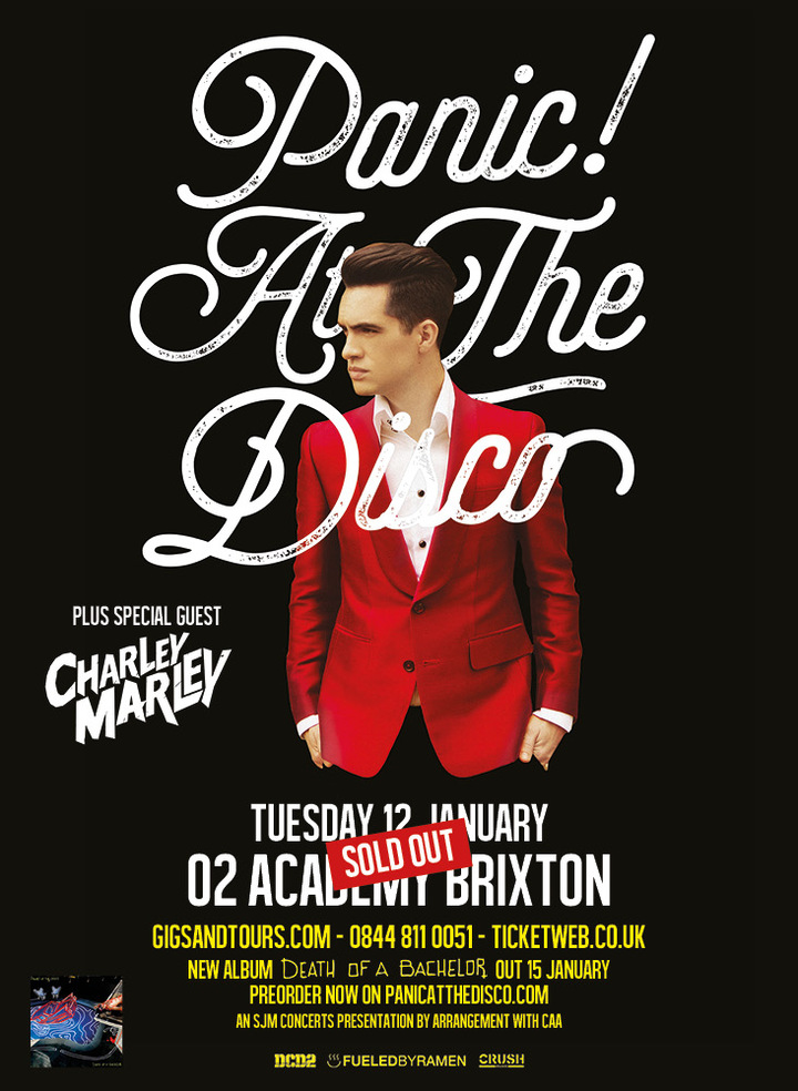 panic at the disco london concert tickets panic at the disco o2 academy brixton tickets. Black Bedroom Furniture Sets. Home Design Ideas