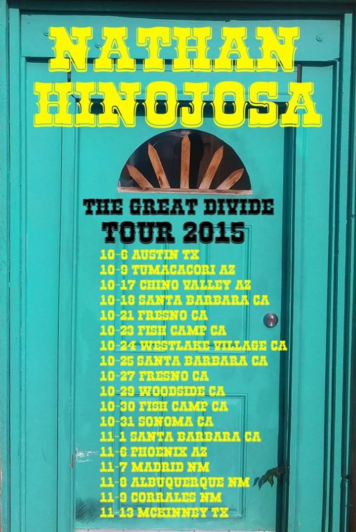 Nathan Hinojosa Tour Dates
