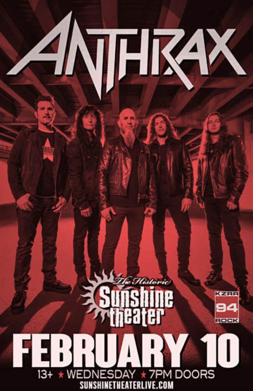 Anthrax @ Sunshine Theater - Albuquerque, NM