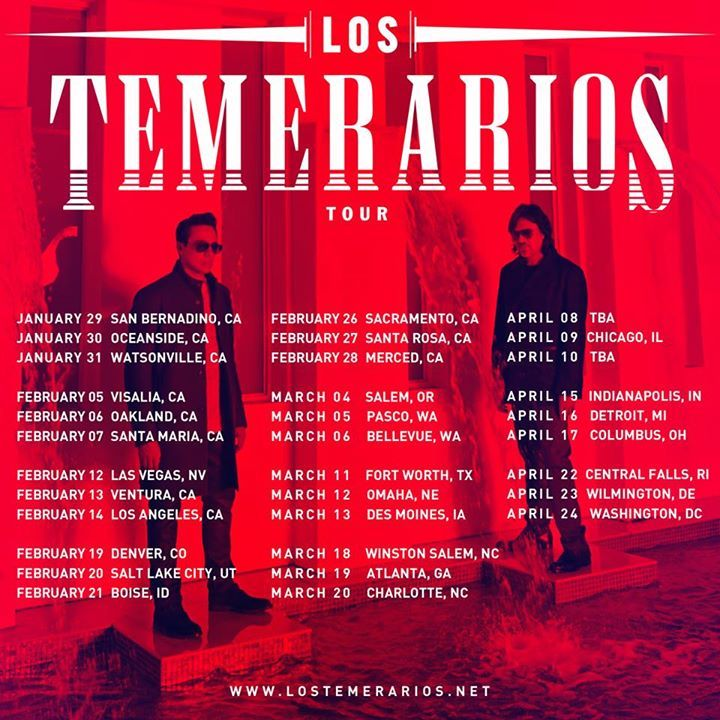 Los Temerarios @ Convention Center - Sarasota, FL