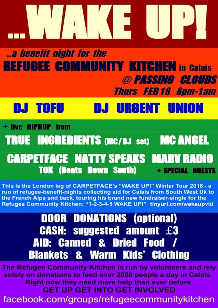 DJ ch!co aka diRTy cHeeKs @ WAKE UP! A Benefit night for the REFUGEE COMMUNITY KITCHEN in Calais - London, United Kingdom