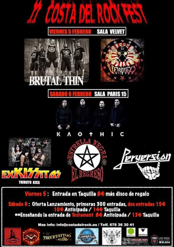 Asociación Costa del Rock Tour Dates