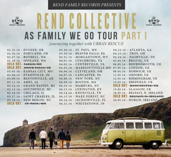 Rend Collective Experiment @ The Art of Celebration Tour / Rock Harbor Church - Costa Mesa, CA