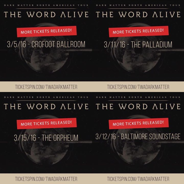 The Word Alive Tour Dates