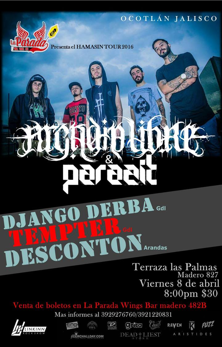 Bandsintown Tempter Tickets Terraza Las Palmas Apr 29 2016