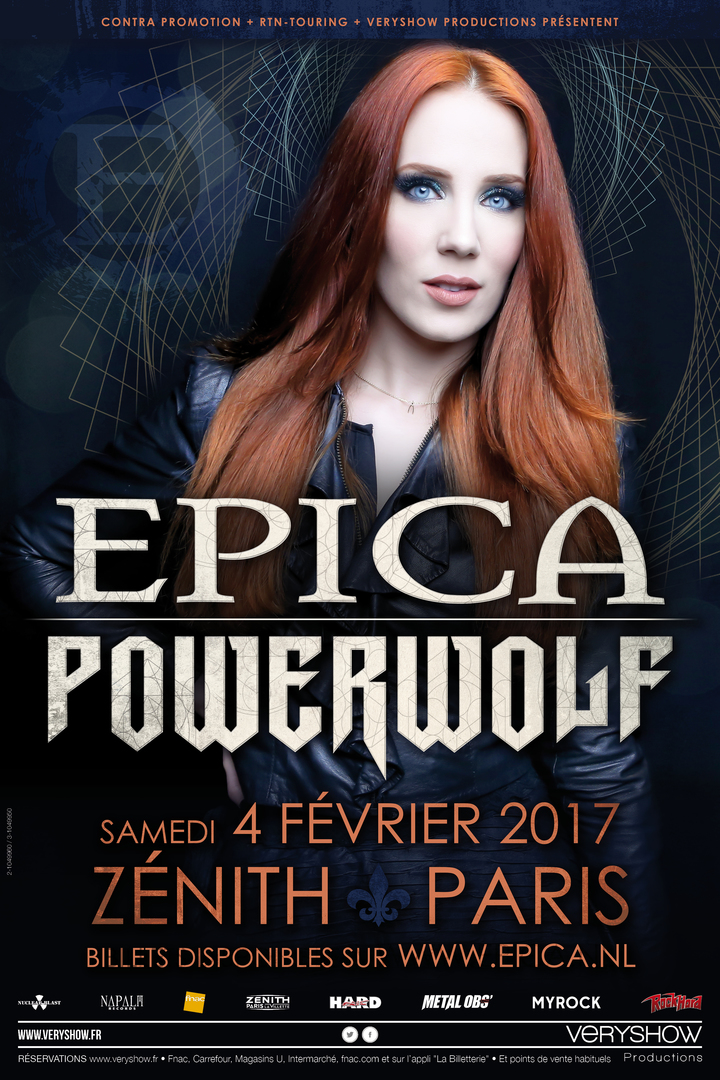 Epica @ Zénith Paris La Villette - Paris, France