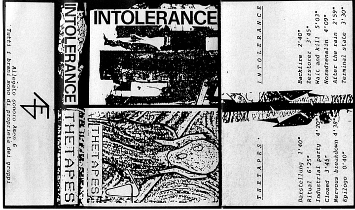 Intolerance Tour Dates