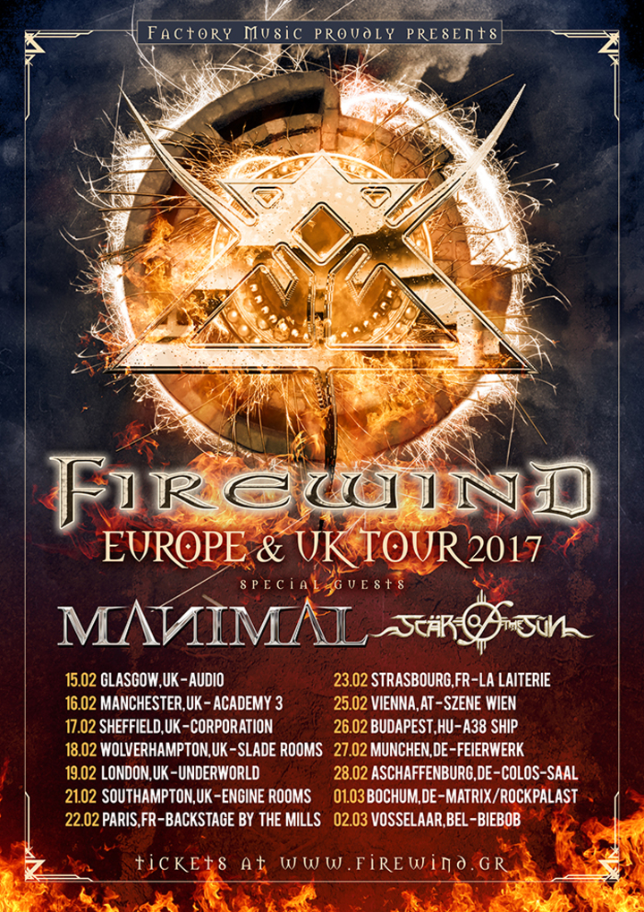 Firewind @ Colos-Saal - Aschaffenburg, Germany