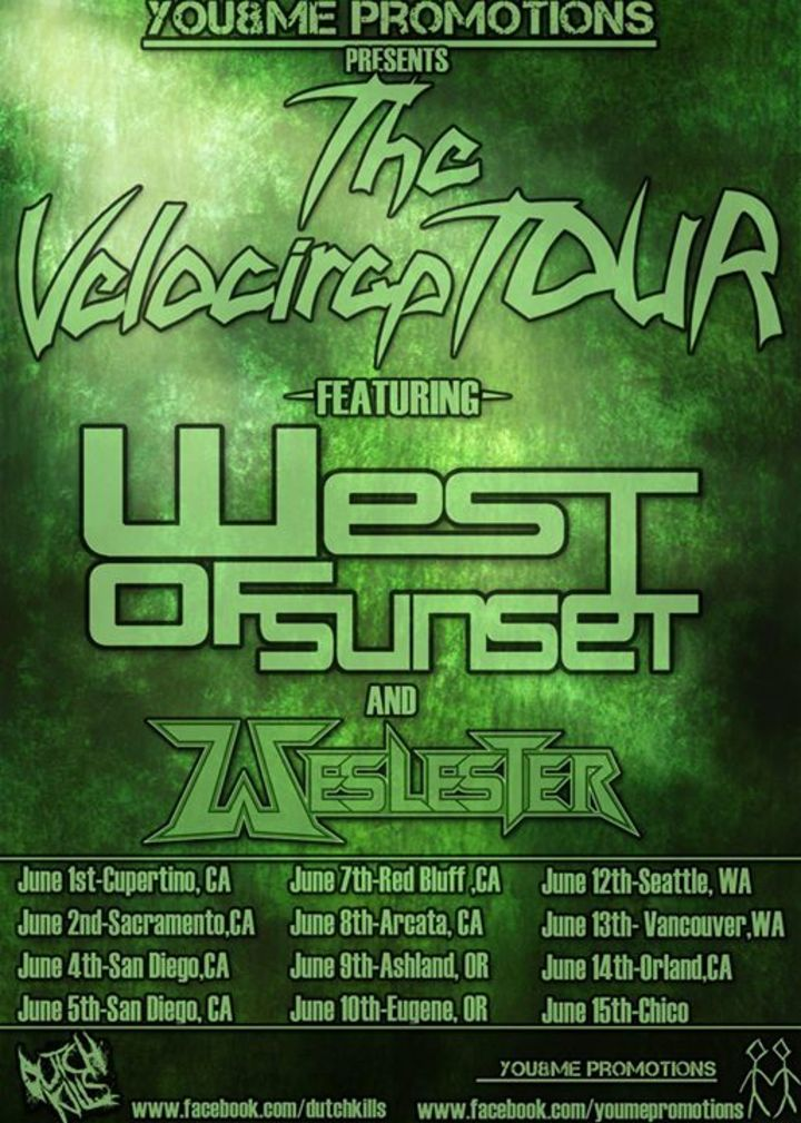 west of sunset Tour Dates