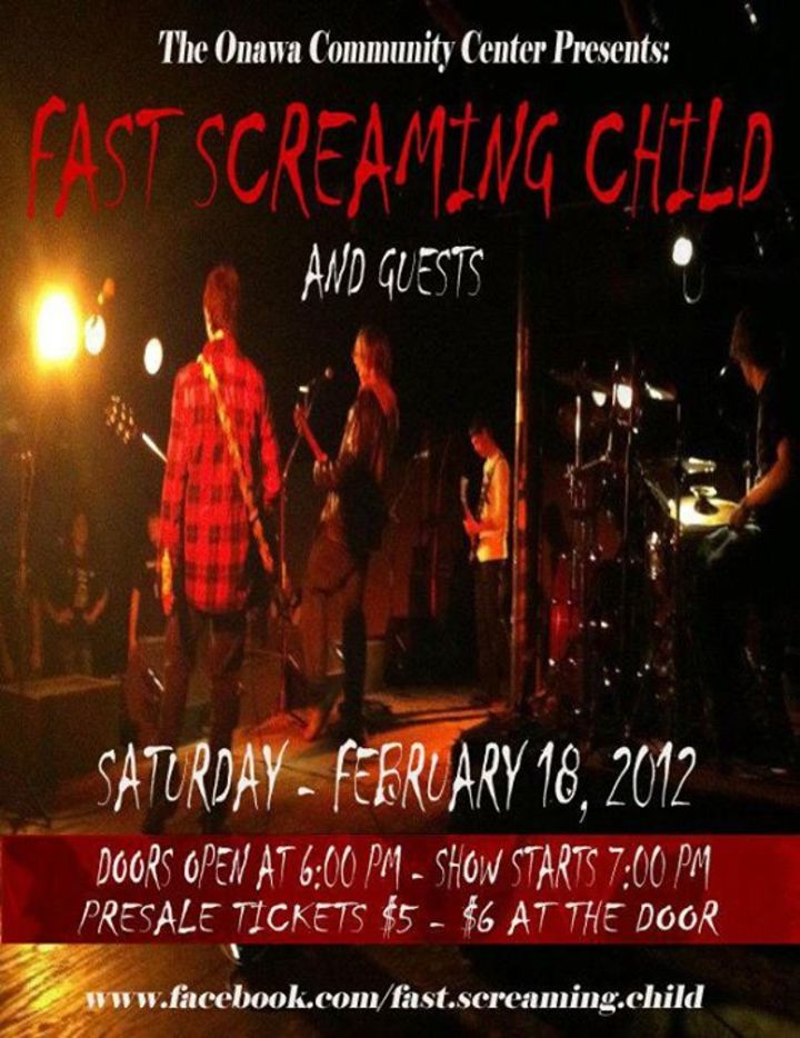 Fast Screaming Child Tour Dates