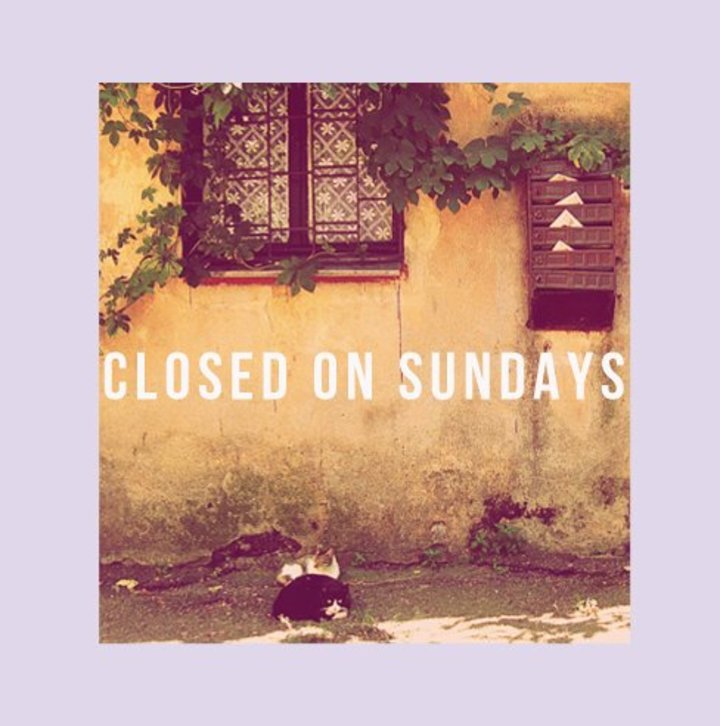 Closed On Sundays Tour Dates