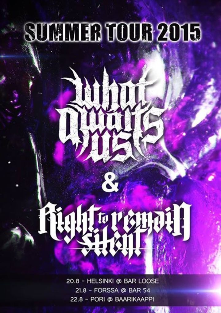 Right To Remain Silent Tour Dates