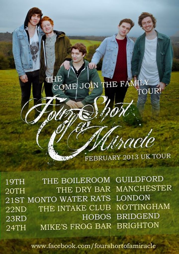 Four Short Of A Miracle Tour Dates