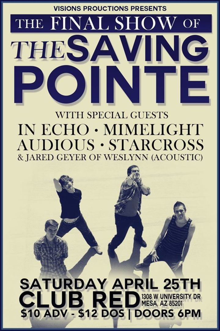 The Saving Pointe Tour Dates