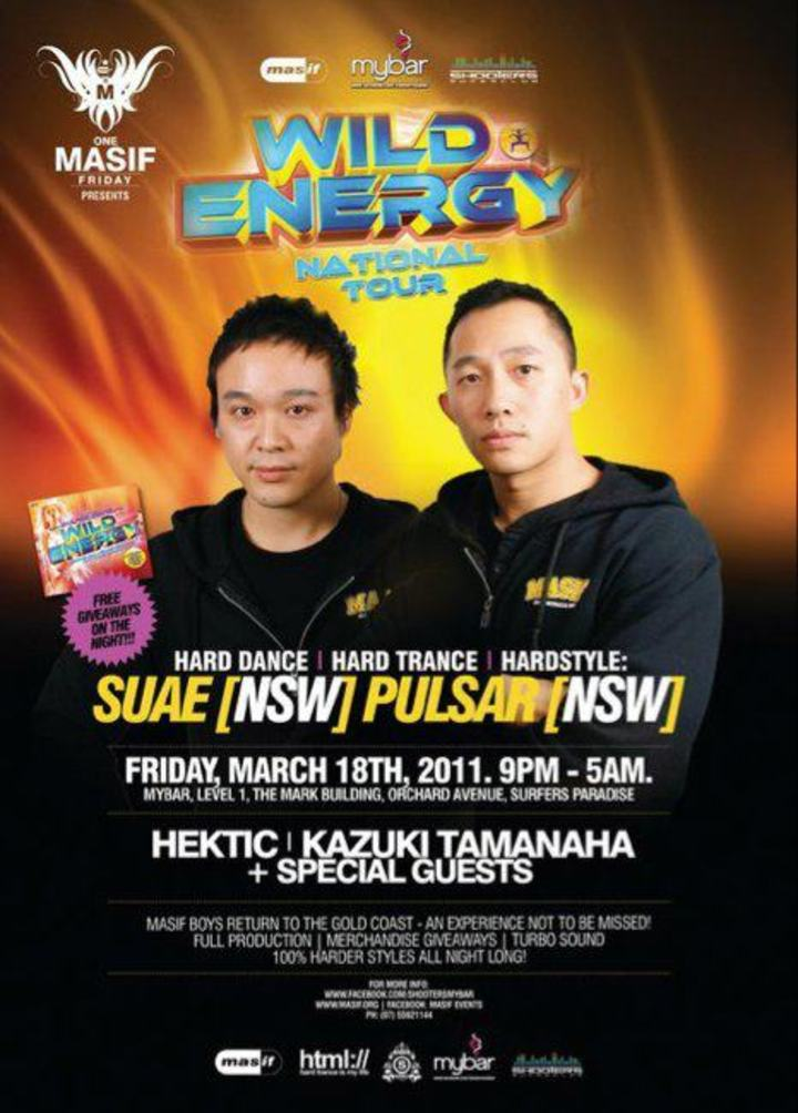 Suae & Pulsar Tour Dates