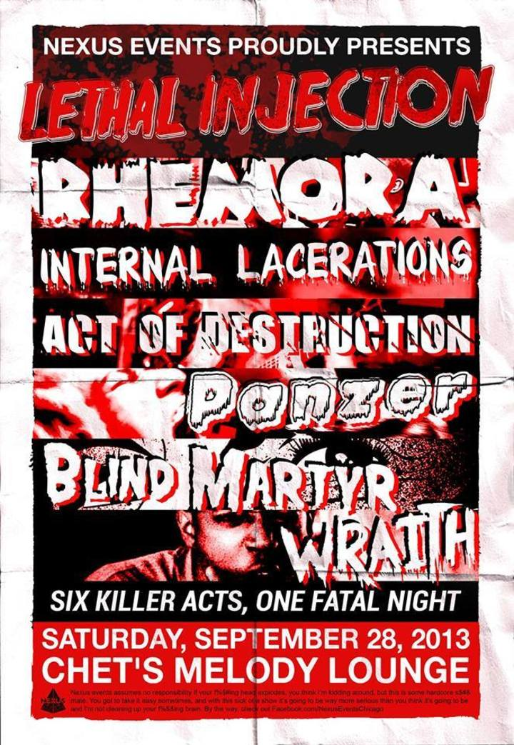 Internal Lacerations Tour Dates