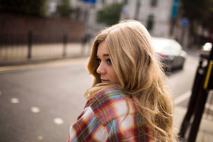 Becky Hill  - 2018 Regular blond hair & Bohemian hair style.