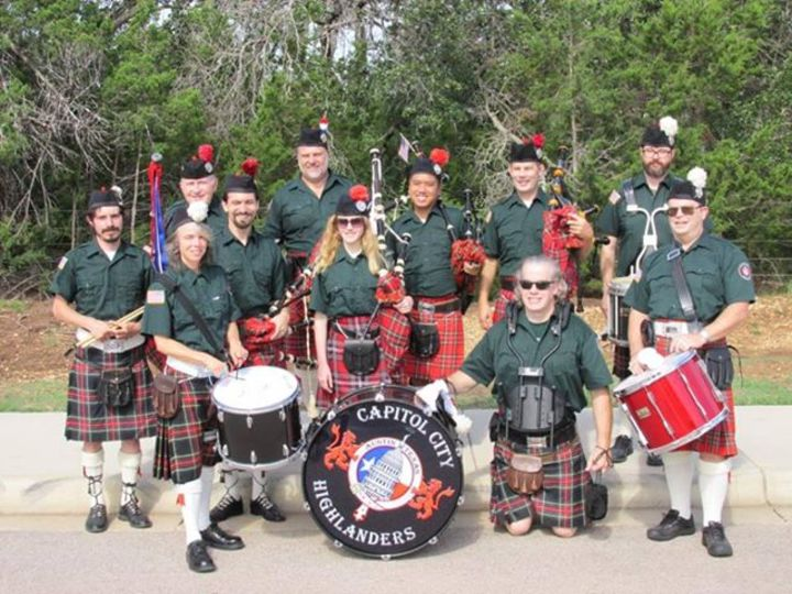 Capitol City Highlanders Pipe Band @ Downtown - Liberty Hill, TX