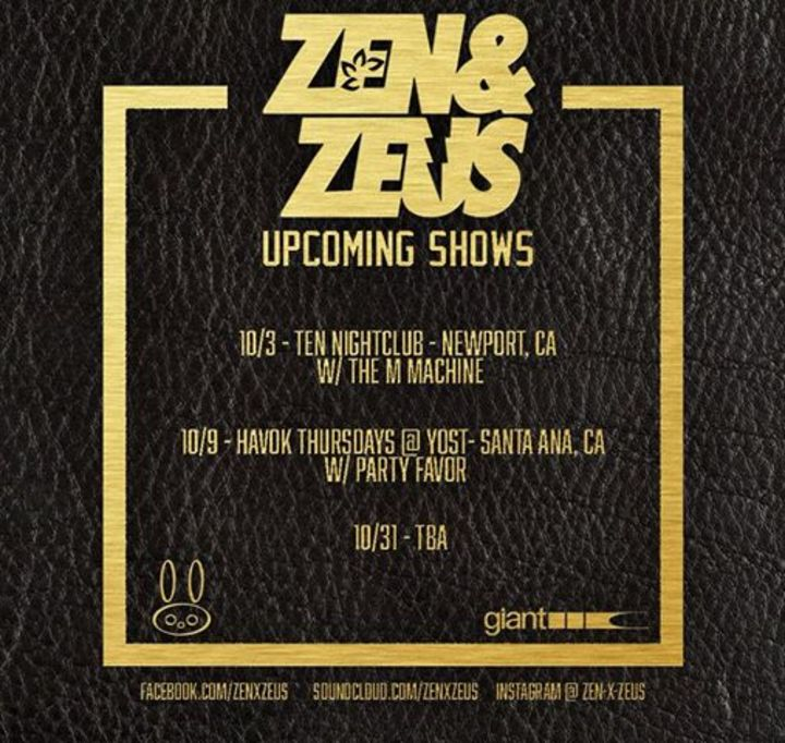 Zen & Zeus Tour Dates