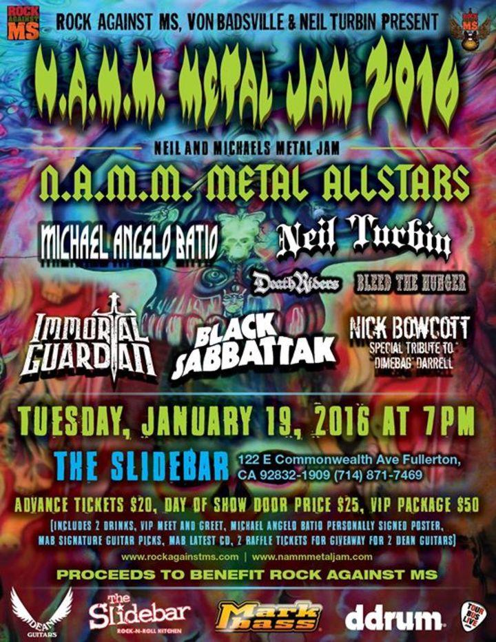 NAMM Metal Jam Tour Dates