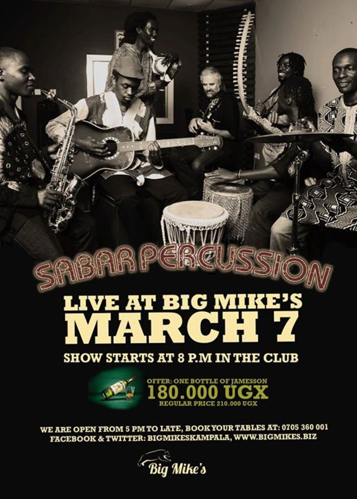 Sabar Percussion Uganda Tour Dates