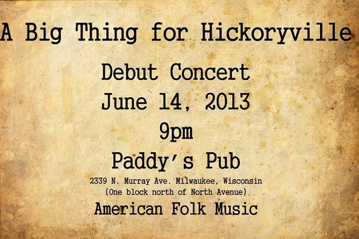 A Big Thing for Hickoryville Tour Dates