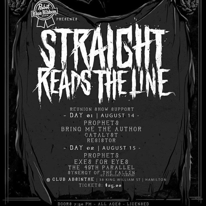Straight Reads the Line Tour Dates