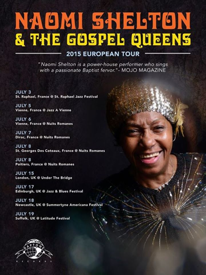 Naomi Shelton and the Gospel Queens Tour Dates