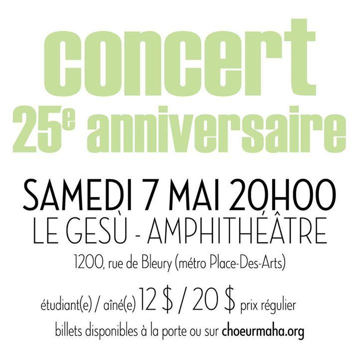 Choeur Maha Tour Dates