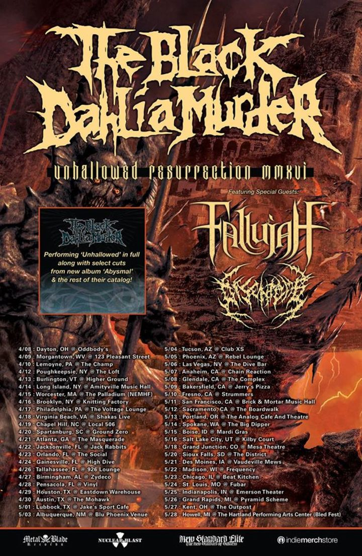 The Black Dahlia Murder @ Mill City Nights - Minneapolis, MN