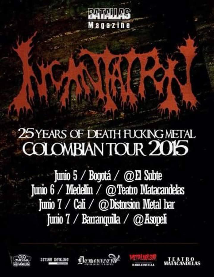 Cadaveria COL Tour Dates