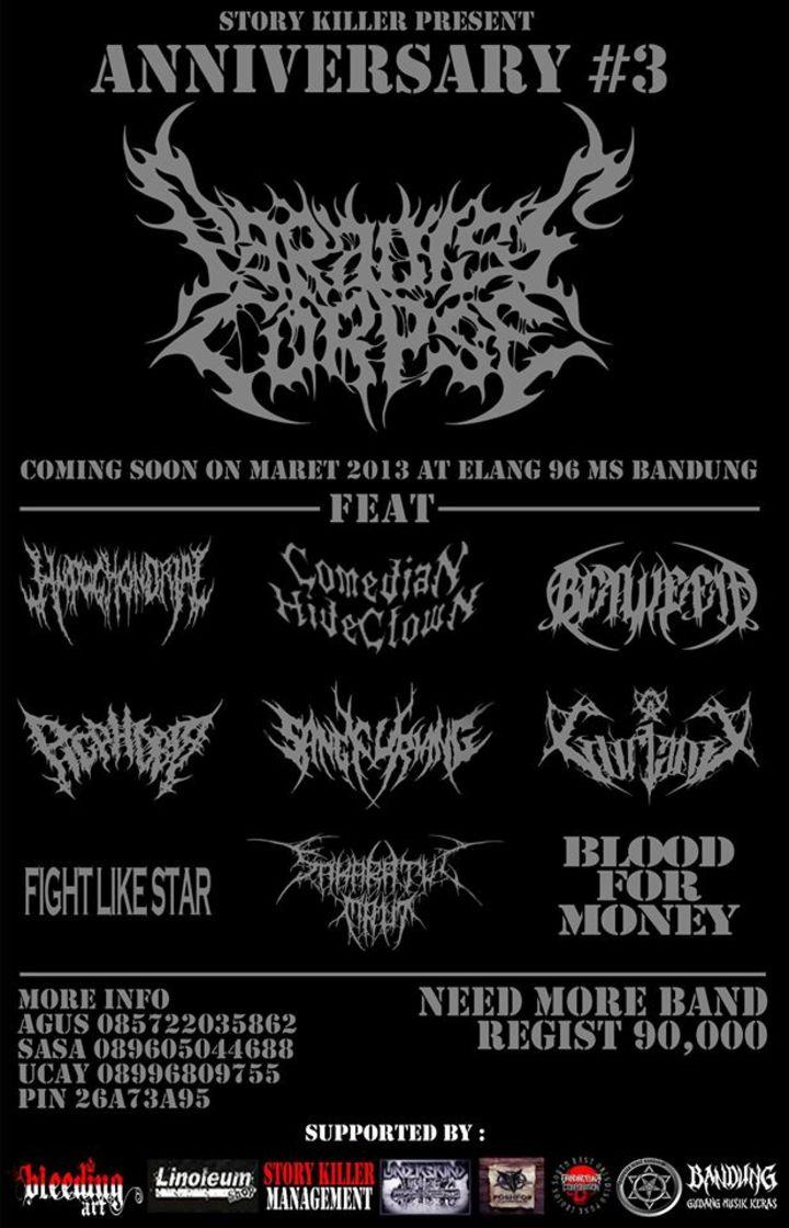 Paradise Corpse Tour Dates