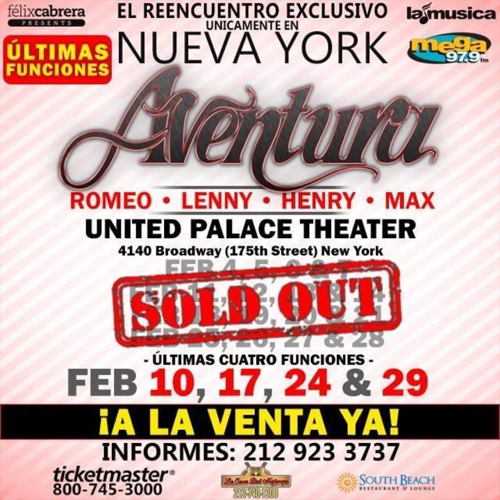 Aventura Tour Dates