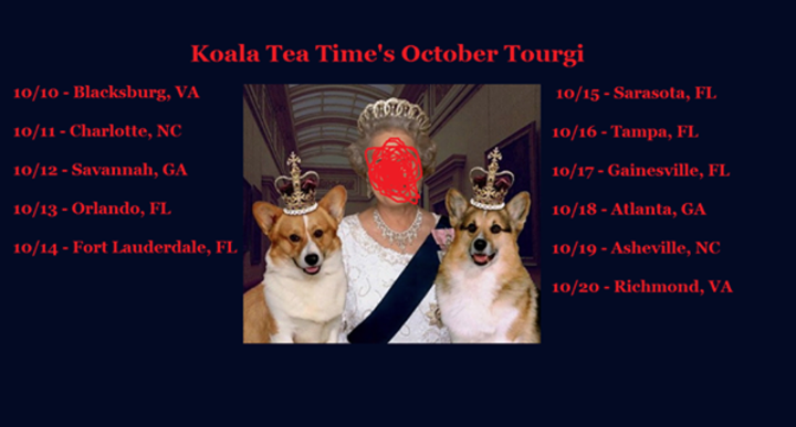 Koala Tea Time Tour Dates