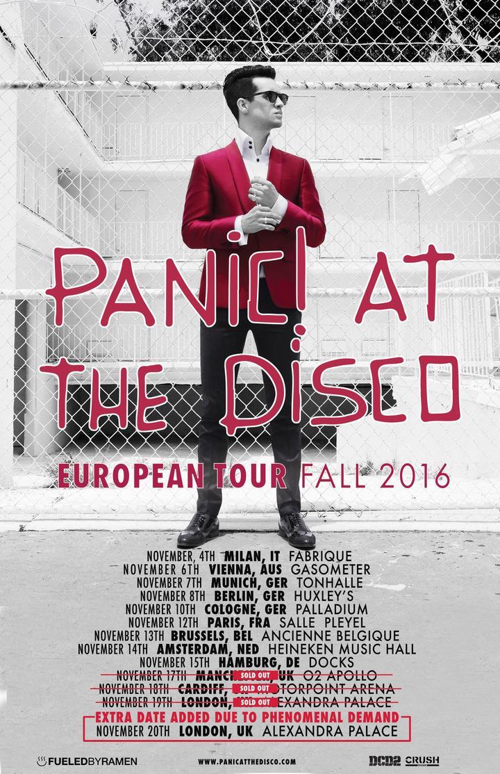 Panic! At The Disco @ Manchester O2 Apollo - Manchester, United Kingdom