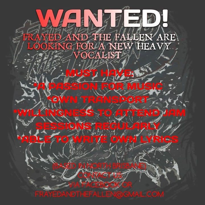 Frayed And The Fallen Tour Dates