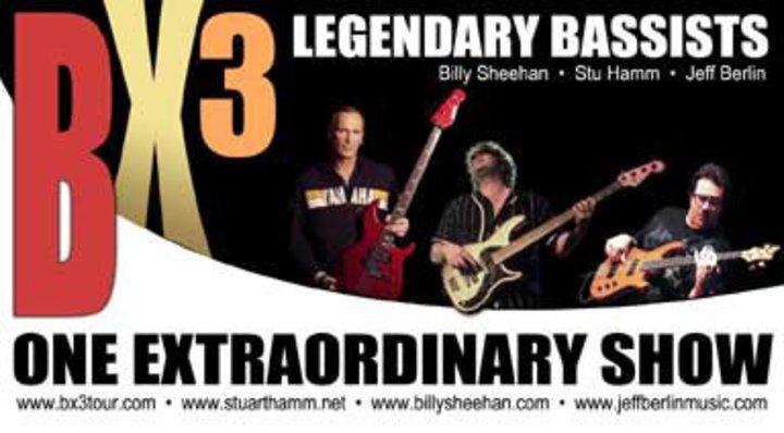 BX3 featuring Stu Hamm - Billy Sheehan & Jeff Berlin Tour Dates